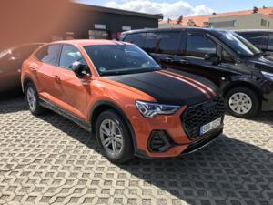 Audi A1 mit Teilfolierung, Autofolierung, Auto folieren