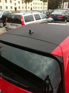 car wrapping pkw vw-golf dach