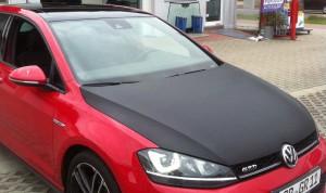 car wrapping pkw vw-golf motorhaube